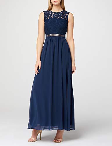 Marchio Amazon - TRUTH & FABLE Maxi Dress di Pizzo Donna, Blu (Blue Blue), 44, Label: M