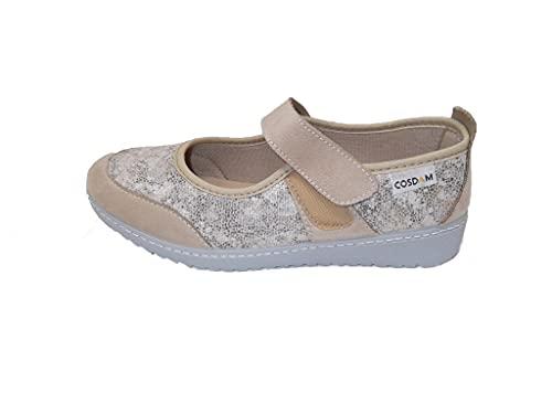 Zapato/Mujer/Cosdam/Plantilla Extraíble/Apto Plantilla ortopédica/Empeine Téxtil/Suela Poliuretano/Color Beige Estampado, Numeric_39