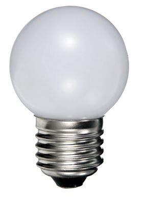 LED Birne für Lichterketten Ping Ball 0,5W 200-240V E27 verschiedene Farben Golfballform Party Dekoration [Energieklasse A++] (Weiß, 10 Stück)