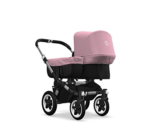 Bugaboo Donkey 2 Mono, 2 In 1 Pram and Pushchair, Extends Into Double Stroller, Black/Soft Pink