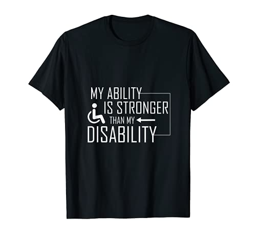 Herren Cooles Rollstuhlfahrer Motiv My Ability Is Stronger