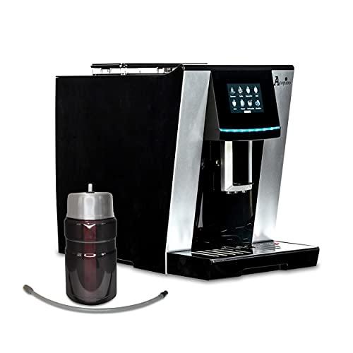 Vittoria Limited Edition OneTouch Kaffeevollautomat mit Milchsystem,Cappuccino und Espresso auf Knopfdruck, inkl. Thermo Milchbehälter