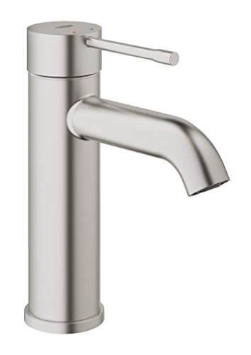 Grohe Essence - Grifo de lavabo Cuerpo liso color Supersteel S (supersteel)...