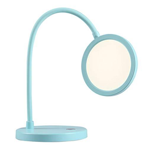 LED slang vouwen dimmen tafellamp, traploos dimmen cirkelvormige lichtbron zonder videoknipperlicht leeslamp, slaapkamer studie verlichting bureaulamp