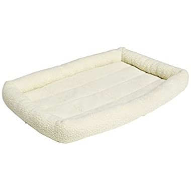 AmazonBasics Padded Pet Bolster Bed - 35 x 22 inches