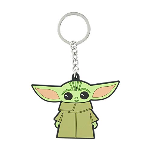 Paladone Baby Yoda Keyring Llavero, Mulitcoloured, Talla única Unisex Adulto
