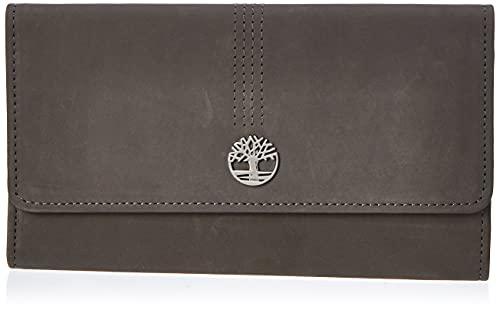 Timberland Women's Leather RFID Flap Wallet Clutch Organizer, Castlerock (Nubuck), One Size