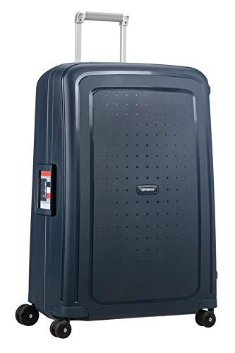 Samsonite S'Cure Spinner L Suitcase, 75 cm, 102 Litre, Blue (Navy Blue Stripes)