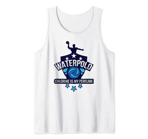 Water Polo Chlorine Is My Perfume Funny Swim Sport Camiseta sin Mangas