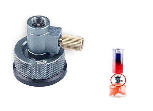 Jeebel Camp ガス詰め替えアダプター,リンドルバルブキャニスターガスコンバーターシフター ガスカートリッジヘッド変換アダプタ カセットボンベ(CB缶)からアウトドア用ボンベ(OD缶)にガスを詰め替える (007+006)