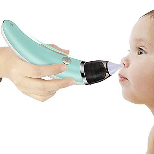 Tratamiento de rinitis alérgica con Lavado Nasal eléctrico Irrigador Nasal para niños Adultos Diseño ergonómico Rotación de 360 Grados Ajuste de succión de 5 velocidades Carga por USB