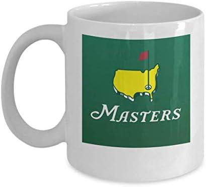 Masters Green Coffee Mug White 11oz Masters Tournament Coffee Mug Masters Golf Mug Masters Green product image