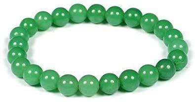 Pulsera natural de aventurina verde Pulsera elástica de pulsera | 7-7,5