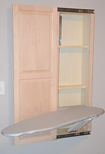 Slide-Away Elite Series Unfinished Maple in-Wall Ironing Board