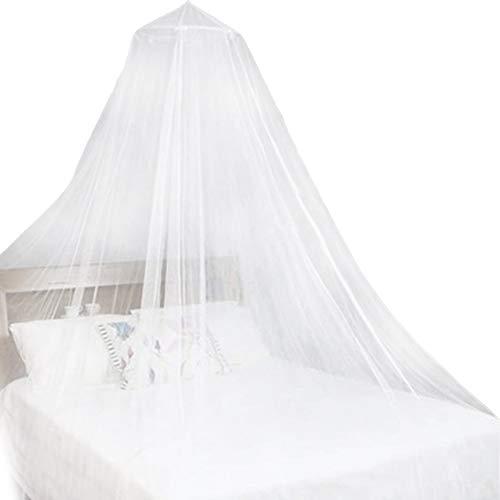 Moskitiera, NALCY łóżko moskitiera, kopuła siatka na owady baldachim do sypialni dekoracja księżniczki łóżko baldachim moskitiera księżniczka wielokolorowa dorośli nastolatki dzieci lub nad kołyską (biała)
