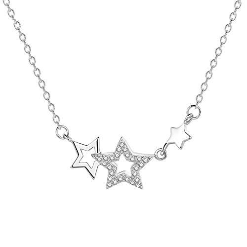 Yosemite - Collar con colgante de estrella con incrustaciones de estrella y diamantes de imitación para mujer