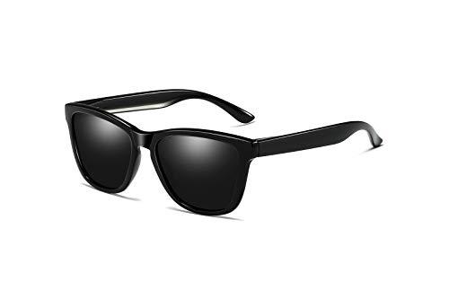 Skevic Polarisierte Sonnenbrille Herren und Damen - Fahrradbrille mit UV400 Schutz, Radbrille Sportbrille für Autofahren Running Skifahren Fischen Radfahren Wandern Golf (Schwarz/Schwarz)