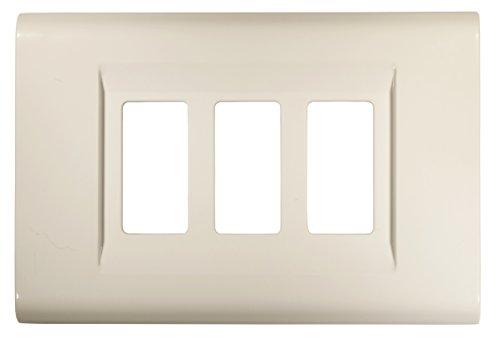 FEB 2583/WH Placca Click 3 Moduli, Bianco