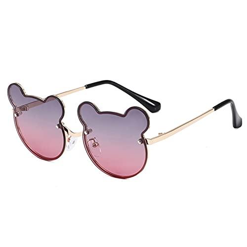 Gafas duraderas Gafas de Sol Lindo Dibujos Animados Anti-Ultraviolet Polarizing Globos Muchacho y niña Moda Gafas de Sol Street Clap (Lenses Color : Dark Red Blue)