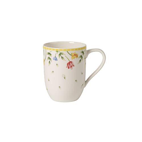 Villeroy & Boch Spring Awakening Taza de café Flores campestres, Porcelana , Flores, Taza grande, Amarillo/Colorido, 340 ml
