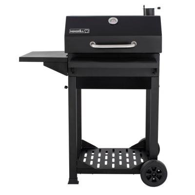 Nexgrill Cart-Style Charcoal Grill with Foldable shelves, Black