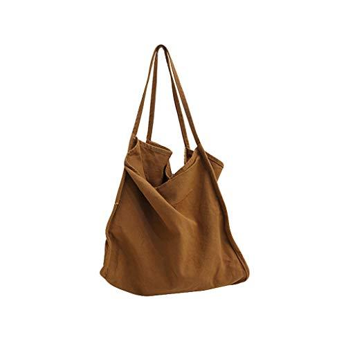 Schoudertas van linnen, schoudertas, vrije tijd, crossbody-tassen, eenkleurig, boodschappentas, grote capaciteit