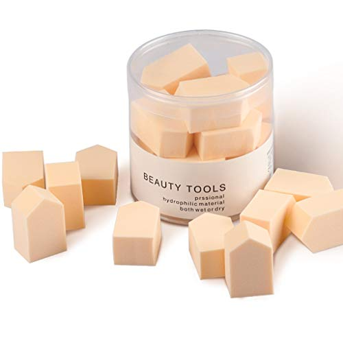 Hzd 15 capsules de maquillage Puff, coussin en forme de diamant en éponge de gelée d'œufs de beauté très doux, sec et humide, ne pas manger de poudre (Couleur : Orange)