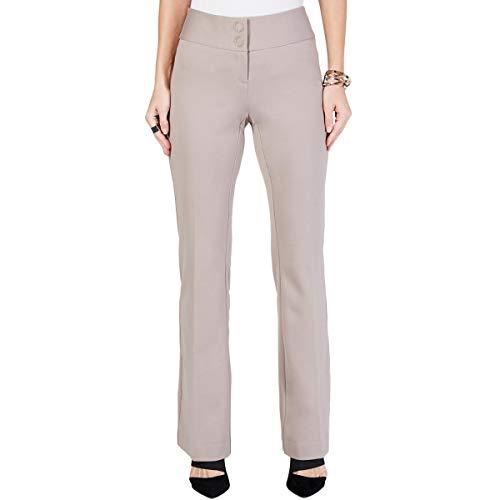 Alfani Womens Tummy Slimming Mid-Rise Trouser Pants Beige 10