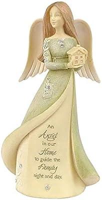 Enesco Foundations Family Angel Miniature Figurine, 4.72 Inch, Multicolor