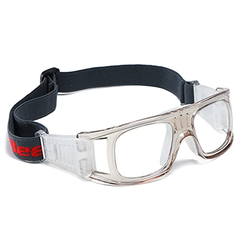 Professional Sports Goggles Protective Safety Goggles Basketball Glasses for Men with Adjustable Strap for Basketball Football Volleyball Hockey Rugby Grey