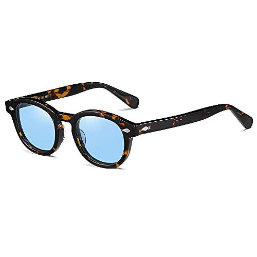 SHEEN KELLY Occhiali da sole ovali retrò per uomo Donna Capitano pirata Johnny Depp Stile lenti polarizzate Materiale acetato