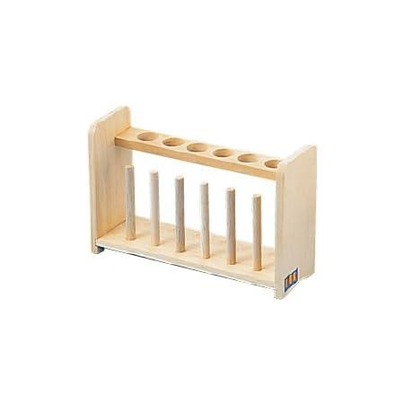 試験管立て(木製)6本立て 155-994