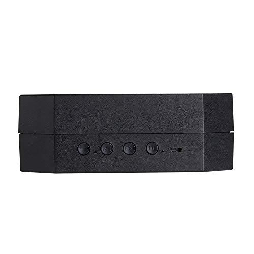 N/C Lampada Organo Portatile Lampada A Scomparsa Bluetooth Audio Portatile Lampada da Tavolo A LED Comodino Regalo Notte Amante della Luce USB USB,Black-3W
