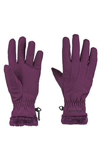 Marmot Damen Wm's Fuzzy Wuzzy Glove Softshell Handschuhe, Winddicht, Wasserabweisend, Dark Purple, S