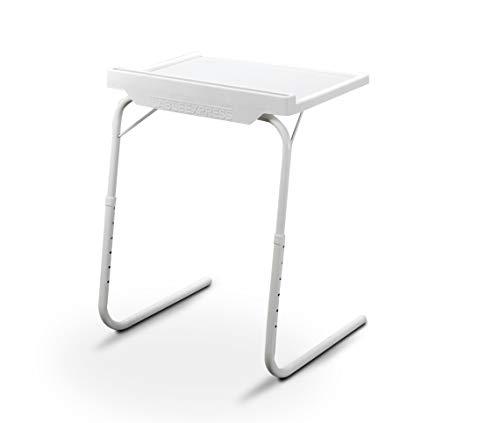 Mediashop Starlyf Table Express mit Clip LED Lampe | Beistelltisch | Couch-Tisch | Serviertisch | bis 25 kg Traglast | 18 Einstellmöglichkeiten | Halterung für Tablet & Smartphone