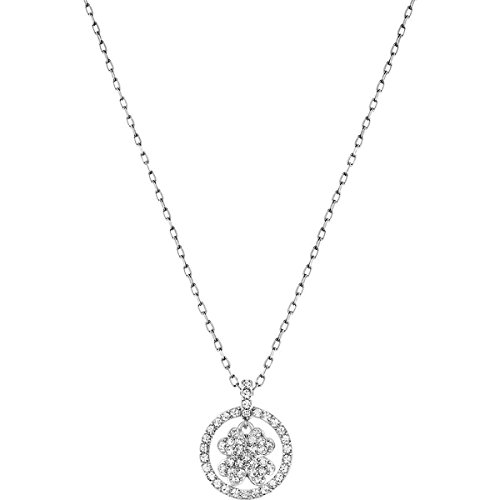 Swarovski Damen-Kette mit Anhänger Crocus rhodiniert Glas weiß - 5112176