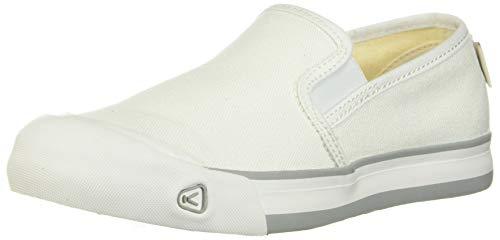 KEEN Women's Coronado III Slip ON Sneaker, White, 8.5