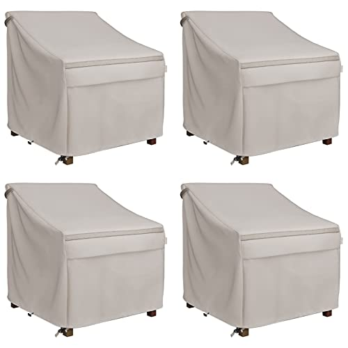 MR.COVER - Funda para silla de patio con asiento profundo, resistente al agua, resistente al agua, resistente a la intemperie, 89 cm de ancho x 96,5 cm de profundidad x 78,7 cm de alto, 4 unidades