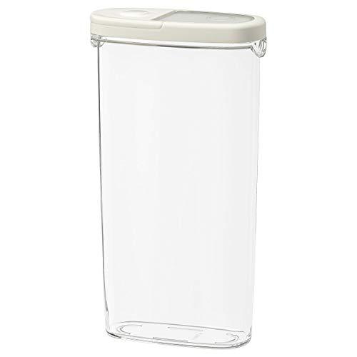 4er Set IKEA 365+ Trockenfutter Gläser mit Deckel transparent/weiß 2,3L