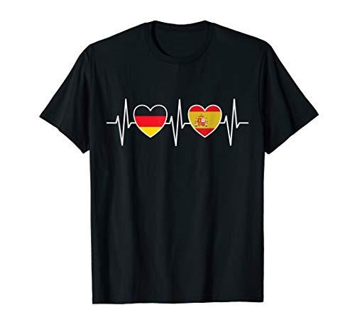 Deutschland und Spanien Deutsch Spanisch Spain Fahne Flaggen T-Shirt