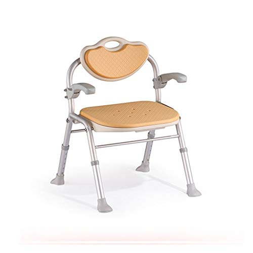 ZWH-Shower Bench Elderly Folding Shower Stool Safety Non-Slip Aluminum Bath Stool Pregnant Women and Disabled Person Shower Seats Stool Shower Chair