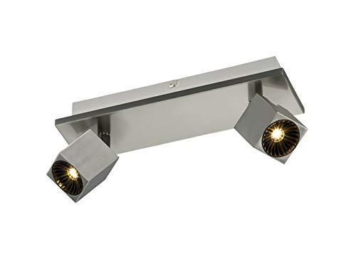 Trio Leuchten LED Strahler Cuba 828510307, Metall Nickel matt, inkl. 2x 4 Watt + 3x 4 Watt LED