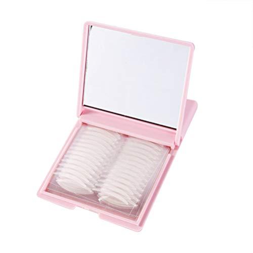 Solustre Autocollants Autocollants pour Paupières à Double Bande de Paupières avec Boîte D'emballage de Miroir 240 Paires de Bandes de Lifting Des Yeux en Pâte de Paupière de Maquillage (Rose)