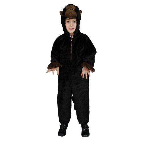 Dress Up America 380-M Kleine Kinder Plüsch Gorilla Kostüm von Dress Up Amerika, Alter 8-10 (Taille 30-32, Höhe 45-50 Zoll)