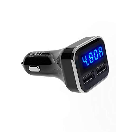 Guangcailun Universal del teléfono dual 4.8A USB LED del cargador del vehículo inteligente Tensión Corriente Detección automática de carga rápida Adaptador Móvil