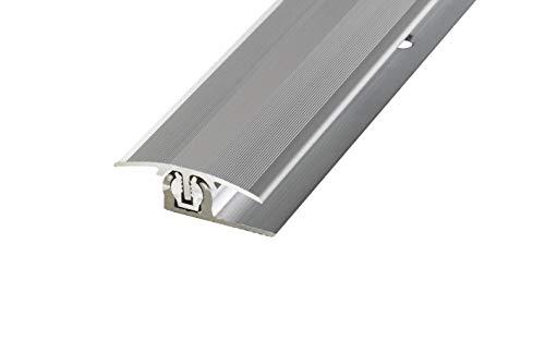 Übergangsprofil Übergangsleiste Höhenausgleichsprofil PROLINE PROVARIO Uni, 7-18 mm, Aluminium, 100 cm, eloxiert Silber
