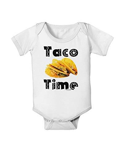 Taco Time - Body para bebé, diseño de Comida Mexicana Blanco Blanco 12-18 Meses
