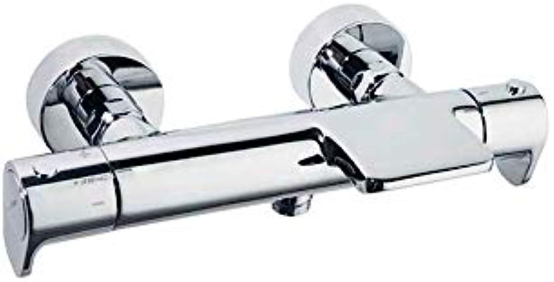 Ramon Soler 3639S Thermostat, für Badezimmer, Wasserfallausgang, ohne Duschset, Modell Alexia, Chrom