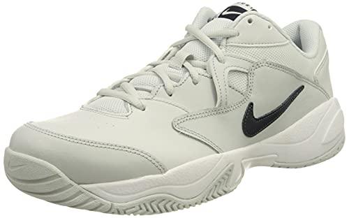 Nike NikeCourt Lite 2, Zapatos de Tenis Hombre, Pure Platinum Obsidian White, 42 EU