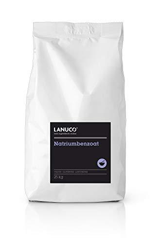 Natriumbenzoat 25 kg - kristallines Pulver, vegan, Konservierung, Natriumsalz, Benzoesäure, E211